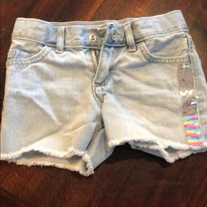 Children's place sequined cut off shorts